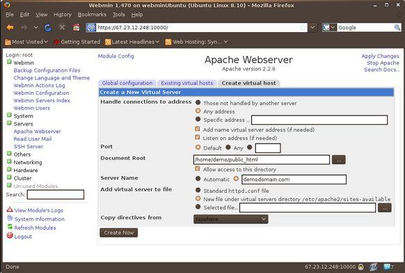 Tạo hosting ảo với apache trong Ubuntu